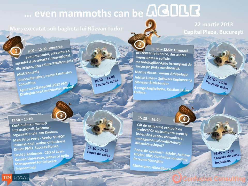 Agenda_even mammoths can be agile_Bucuresti2013