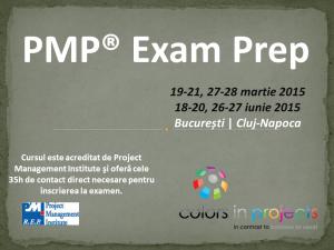 (P) PMP Exam Prep – Curs de pregatire pentru certificare PMI (PMP si CAPM)