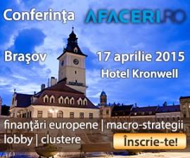 (P) Profita de promotia Early Bird pentru Conferinta Afaceri.ro Brasov 2015  – inscrie-te pana pe 7 aprilie!