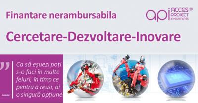 (P) Finantare nerambursabila pentru activitatile de Cercetare-Dezvoltare-Inovare prin Programul Operational Competitivitate