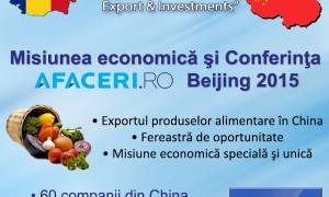 Misiune economica speciala la Beijing pe tema exportului de produse alimentare