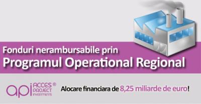 (P) Fonduri nerambursabile prin intermediul Programului Operational Regional