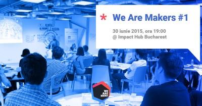 (P) We Are Here si Impact Hub Bucharest devin parteneri pentru a face din crowdfunding cea mai populara metoda de finantare a ideilor noi din Romania