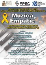 """(P) Concert """"Muzica si Empatie"""", 23 septembrie, Aula BCU Iasi"""