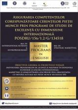 (P) Dezvoltarea competentelor esentiale pentru o cariera de succes – cursuri sustinute de experti din strainatate!