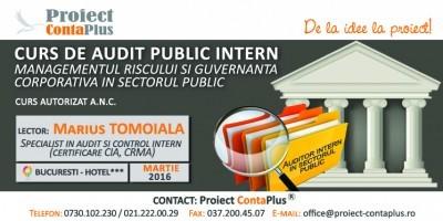 (P) Curs de audit public intern, managementul riscului si guvernanta corporative in sectorul public – Proiect ContaPlus
