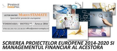 (P) Scrierea proiectelor europene pentru perioada de finantare 2014 -2020 – Proiect ContaPlus