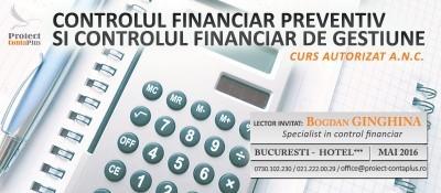(P) Controlul financiar preventiv si controlul financiar de gestiune – Proiect Conta Plus