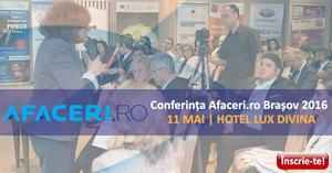 (P) Afaceri.ro, 11 mai, Brasov: Instrumente pentru dezvoltarea afecerilor locale