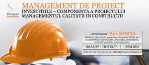 (P) Management de proiect. Investitiile –componenta a proiectului. Managementul calitatii in constructii – Proiect Conta Plus
