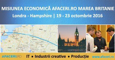 (P) Comunitatea Afaceri.ro merge in Marea Britanie pentru prima editie a misiunii economice pe pamant britanic