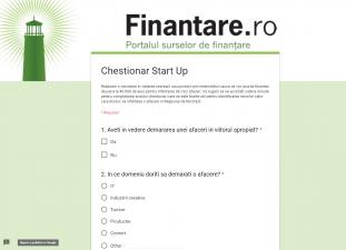 Chestionar: Fonduri europene de 40.000 euro pentru afacerea ta prin  Romania Start Up Plus