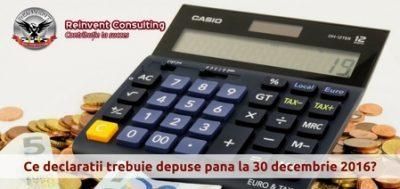 (P) Contabilitate firma: ce declaratii si situatii contabile trebuie sa fie depuse pana pe 31 decembrie 2016