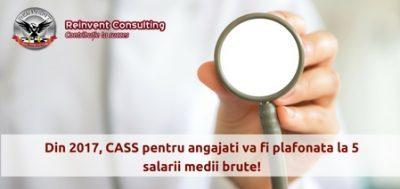 (P) CASS pentru angajati va fi plafonata la 5 salarii medii brute