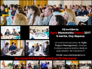 (P) Agile Mammoths Games – Cluj, 9 martie