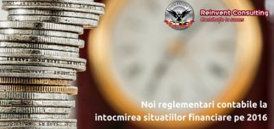 (P) Ordinul MFP nr. 2844/2016: noi reglementari contabile la intocmirea situatiilor financiare pe 2016