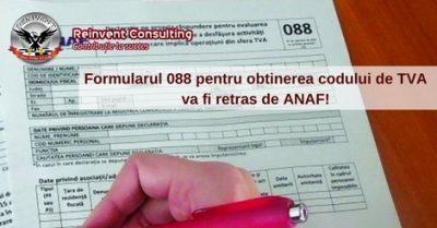(P) Formularul 088 pentru obtinerea codului de TVA retras de ANAF