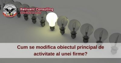 (P) Procedura modificare obiect principal de activitate firma