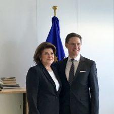 Ministrul Rovana Plumb s-a intalnit cu vicepresedintele Comisiei Europene, Jyrki Katainen