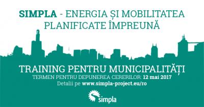 SIMPLA – Energia si mobilitatea planificate impreuna, training pentru municipalitati