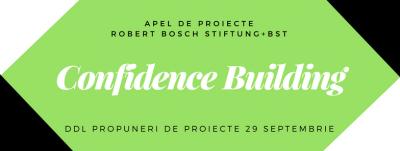 Apel pentru propuneri de proiecte, Confidence Building 2017-2018