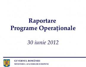 Situatia Programelor Operationale – 30 iunie 2012