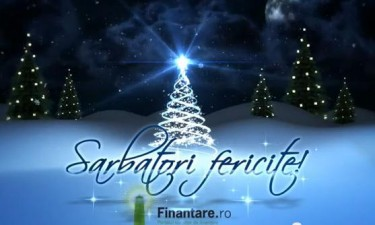 Echipa Finantare.ro va ureaza Sarbatori Fericite!