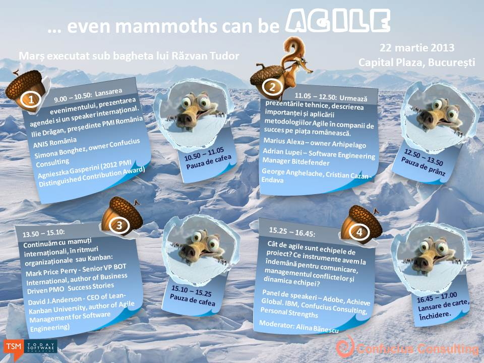Agenda_even mammoths can be agile_Bucuresti2013