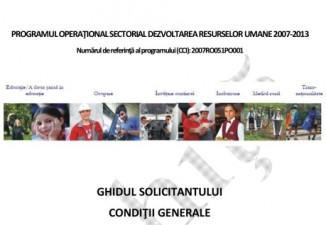 Noul Ghid al Solicitantului POSDRU, editia 2013, publicat spre consultare