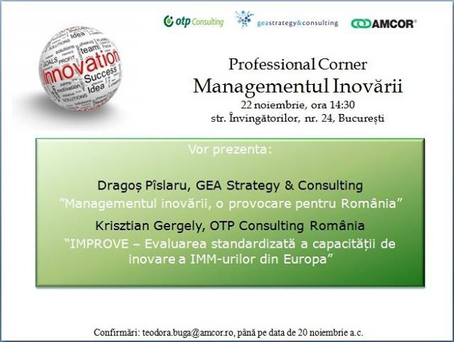 AMCOR Managementul Inovarii
