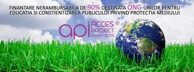 Finantare nerambursabila de 90% destinata ONG-urilor pentru educatia si constientizarea publicului privind protectia mediului