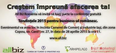 Conferinta Tendintele 2015 pentru Business-ul Romanesc – 28 aprilie 2015
