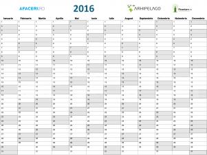 Planner Finantare.ro pentru activitatea din 2016