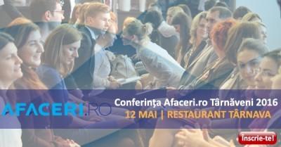 (P) Afaceri.ro, 12 mai, Tarnaveni: Eveniment de cultura a afacerilor la Tarnaveni