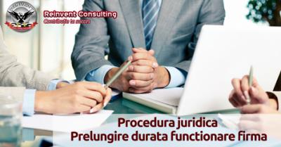 (P) Etape Registrul Comertului prelungire durata de functionare firma