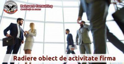 (P) Radiere obiect de activitate – acte necesare inregistrare mentiune la ONRC