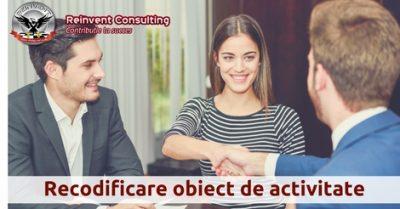 (P) Procedura juridica recodificare obiect de activitate