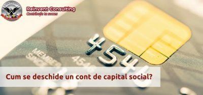 (P) Infiintare firma – deschidere cont de capital social