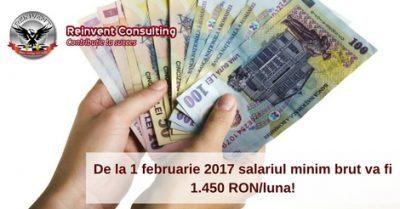 (P) Salariul minim brut va fi 1.450 RON/luna – care sunt implicatiile pentru angajati si angajatori