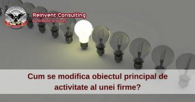(P) Procedura modificare obiect principal de activitate firma