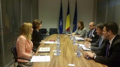 Intalnire a ministrului delegat Rovana Plumb cu Consiliul de Afaceri Americano – Roman