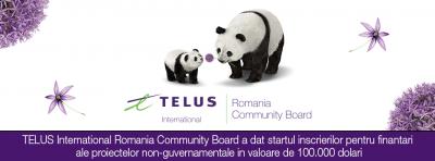 TELUS International Romania Community Board : ultima sesiune de granturi din 2017