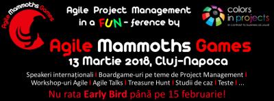 Agile Mammoths Games se intoarce la Cluj pe 13 martie!