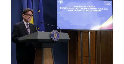 Bilantul activitatii Ministerului Culturii si Identitatii Nationale dupa primele 6 lui de mandat