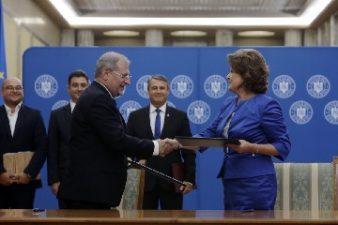 Ministrul Fondurilor Europene si directorul STS, au semnat contractul de finantare pentru modernizarea sistemului 112