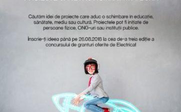 """Electrica lanseaza Programul de Granturi """"Electrica pune Romania intr-o alta lumina"""" 2018"""