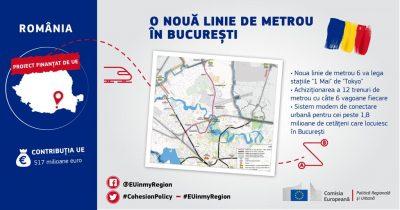 Comisarul european Corina Crețu aprobă o finanțare de peste o jumătate de miliard de euro pentru magistrala de metrou M6