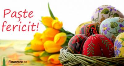 Echipa Finantare.ro vă urează un Paște Fericit!