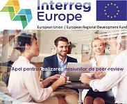 Programul INTERREG Europe a deschis al doilea apel pentru realizarea misiunilor de peer-review