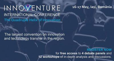 """Conferinta Internationala Innoventure pe tema """"The Quadruple Helix of Innovation"""""""